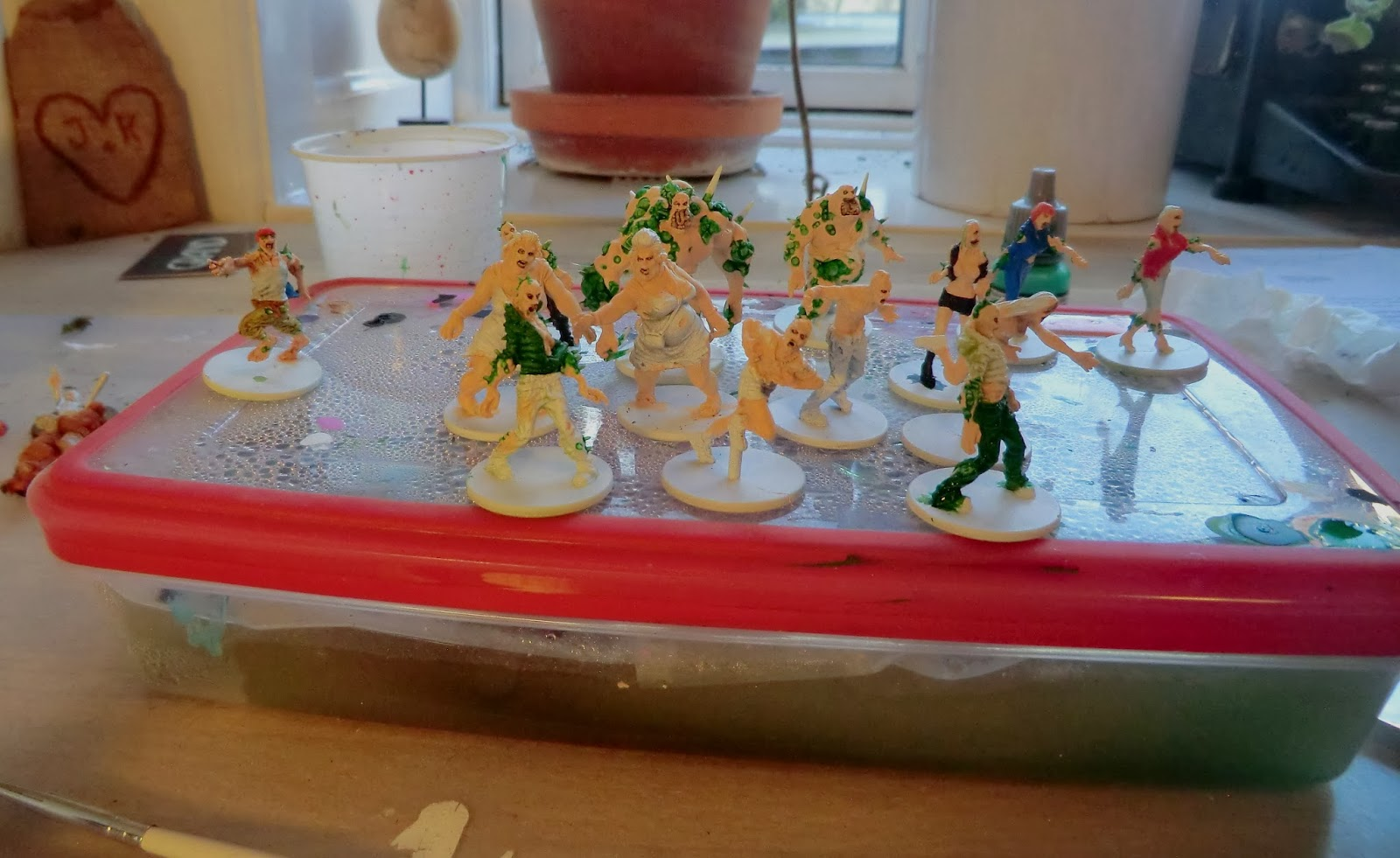 Painting, toxic, zombies, zombicide