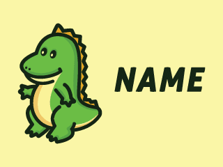Cute Dinosaur Mascot Cartoon Logo