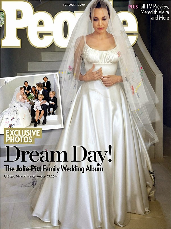 Angelina Jolie Teases Her Fans With Photos Of Her Unique Wedding Dress