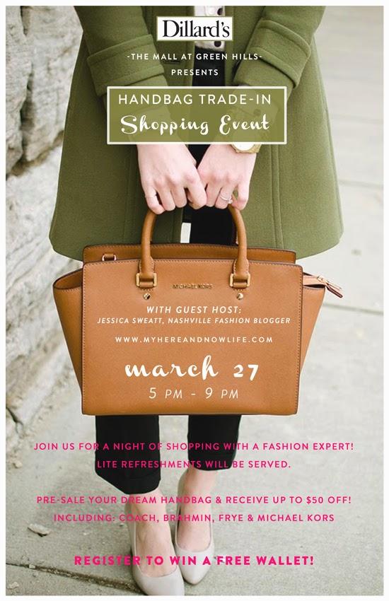 Here & Now: Dillard's Handbag Trade-in Event