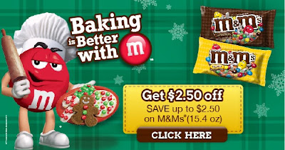 Get $2.50 Off Coupon. Save up to $2.50 on M&Ms (15.4 oz.).