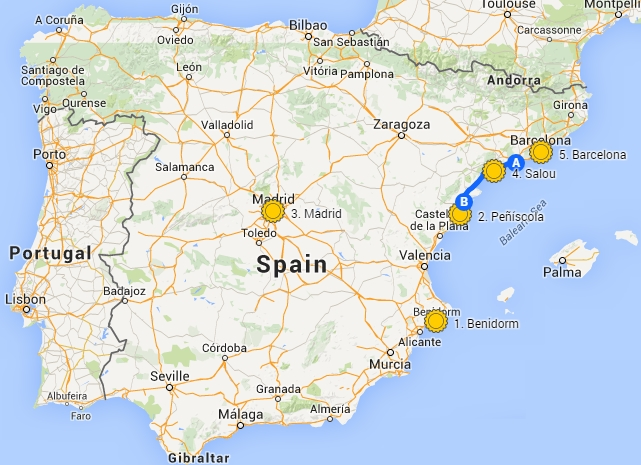 Alcanar Spain Map.Madrid Nightlife Blog Madrid More Popular Than Barcelona