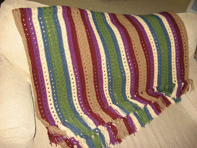 Crossed Double Crochet Afghan