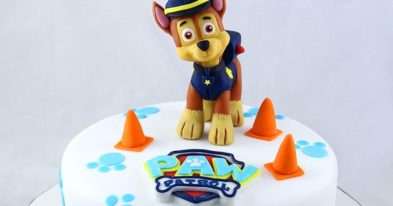 Torta decorata Paw Patrol con Chase tridimensionale in ...