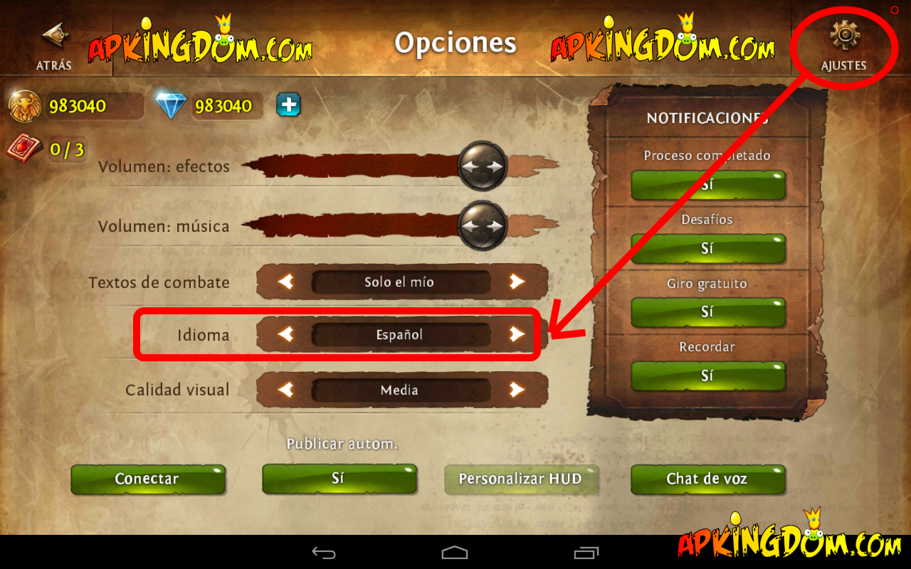 Español+Descargar+Dungeon+Hunter+4+Gameloft+v1.3.0+.apk+1.3.0+APK+Mod ...