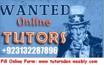 Online tutor, Online Teacher, Vacancies, Home Tutor, School Teacher, Tuition, Teacher, Education