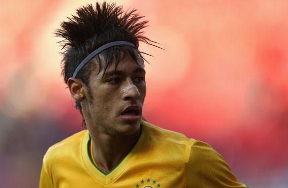 Neymar New Photos Hairstyle 2012 World Football Player