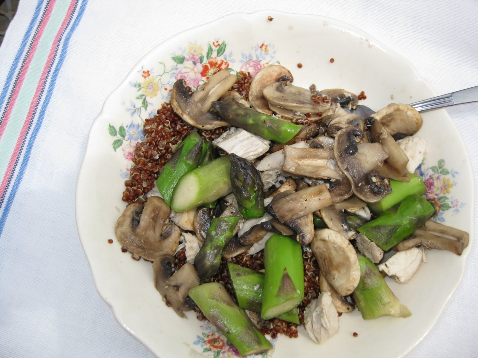 Andrea In Season: Sauteed Chicken with Asparagus and Mushrooms