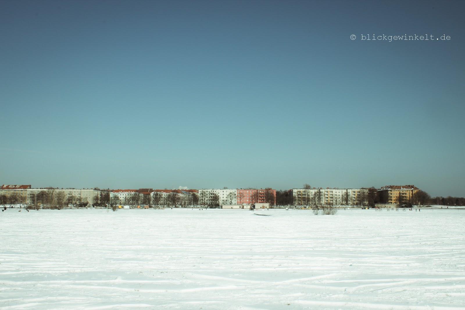 Tempelhofer Feld im Schnee, Berlin