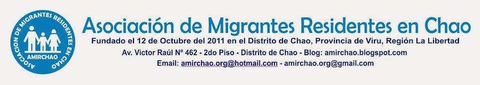 ASOCIACION DE MIGRANTES RESIDENTES EN CHAO