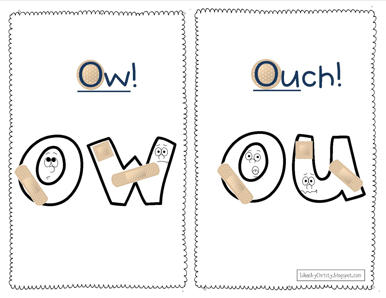 Ideas by Christy: Ow & Ou Digraphs