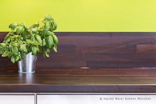 Arbeitsplatte HPL Nussbaum, Arbeitsplatten, dunkel, moderne Küche, junge Küche Farbauswahl Küche
