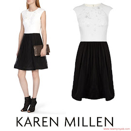 Princess Sofia Style KAREN MILLEN Dress and ACNE Tillie Sandals