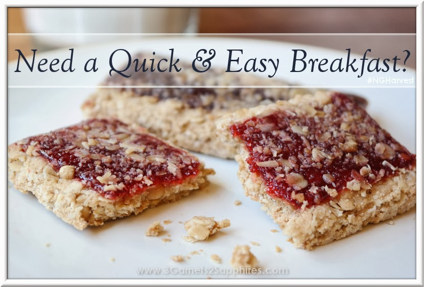 An easy breakfast with Nutri-Grain Fruit & Oat Harvest Cereal Bars #NGHarvest