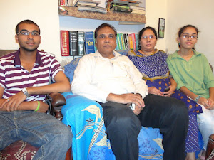 Bishop Pervaiz Joseph with his family in LEAD Office