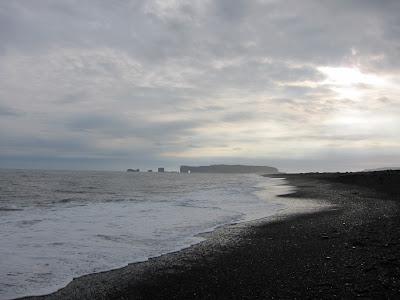 Basalt columns in Reynirsfjara beach, Iceland