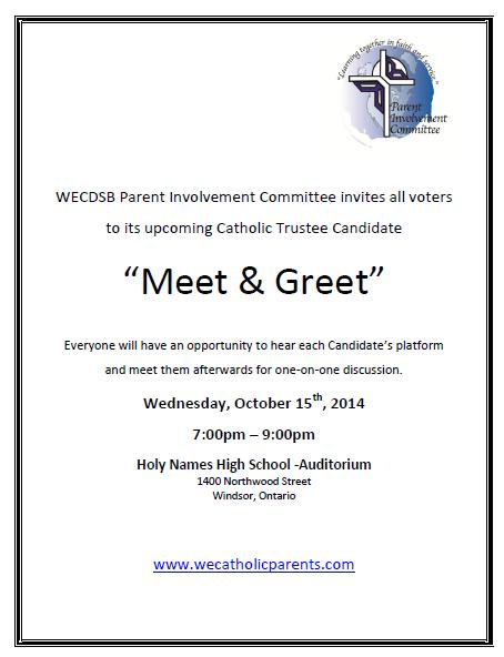 meet the candidates invitation box