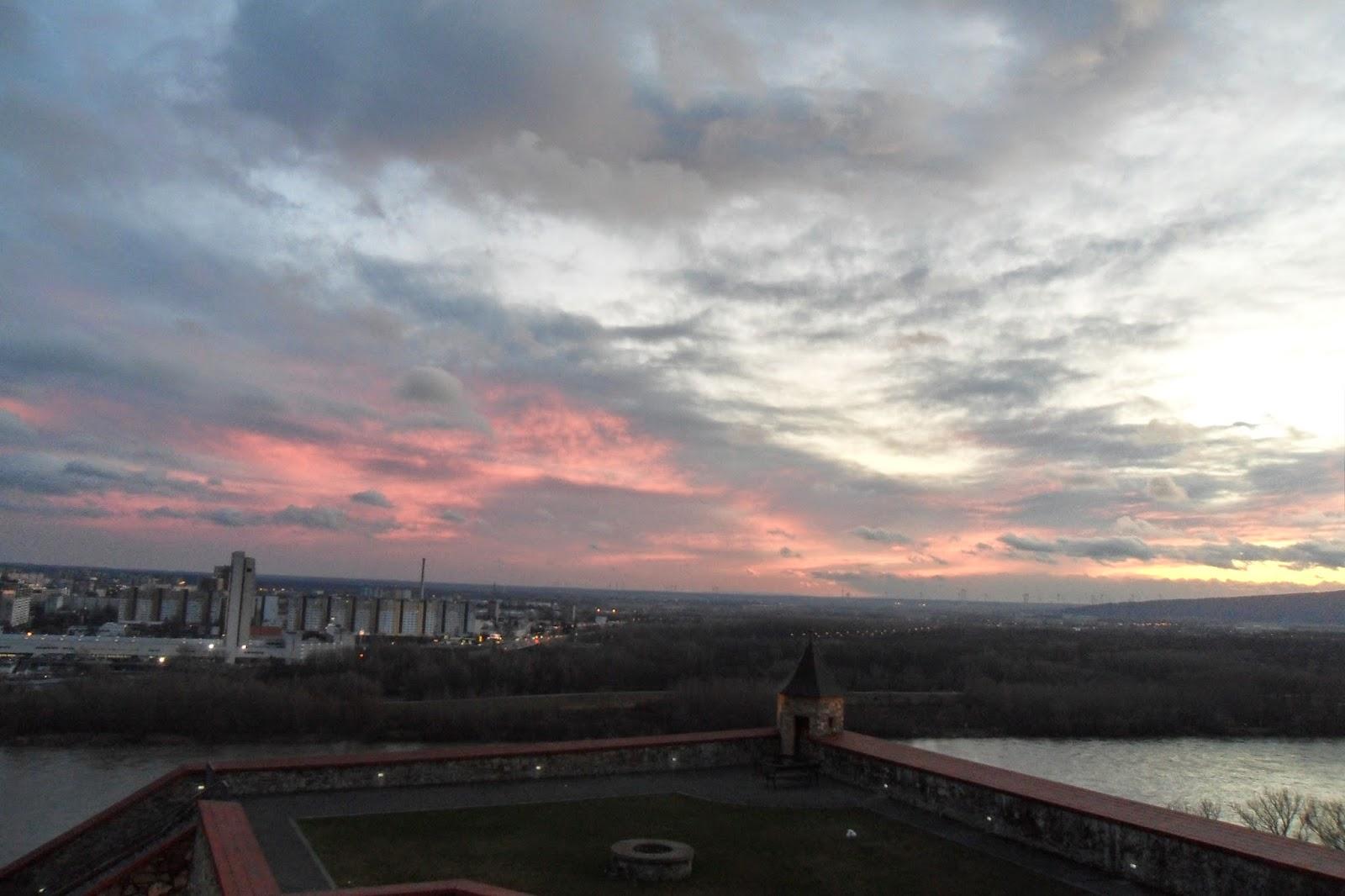 Sunset over Bratislava, Slovakia