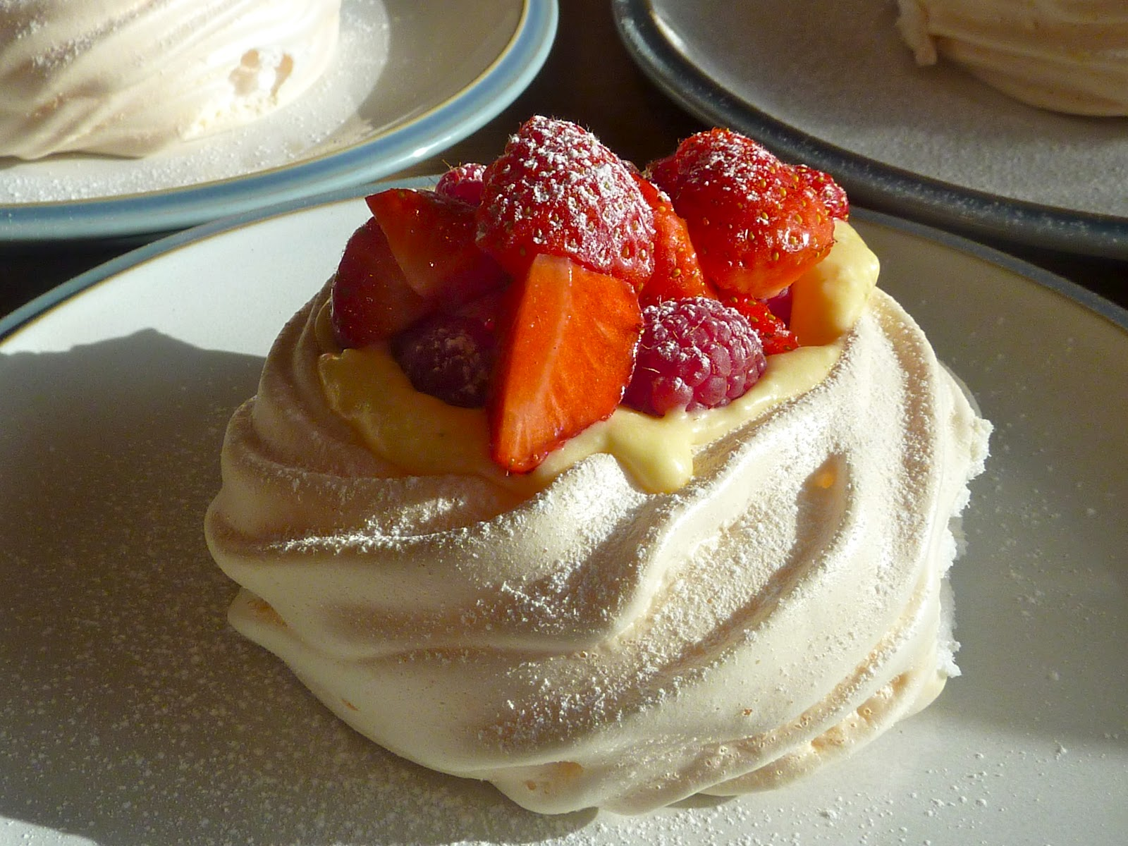 ... Feed The Animals!: Meringue Cups With Lime Cream and Fresh Berries