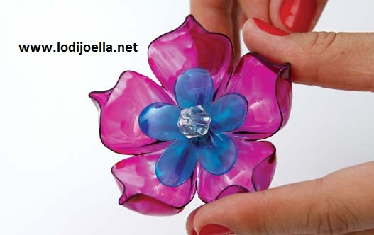 Flores con botellas Recicladas