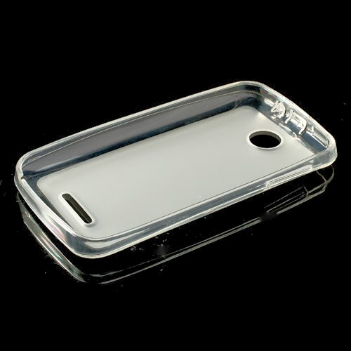 Pudding TPU Jelly Case Cover Protector for Lenovo A390 - White