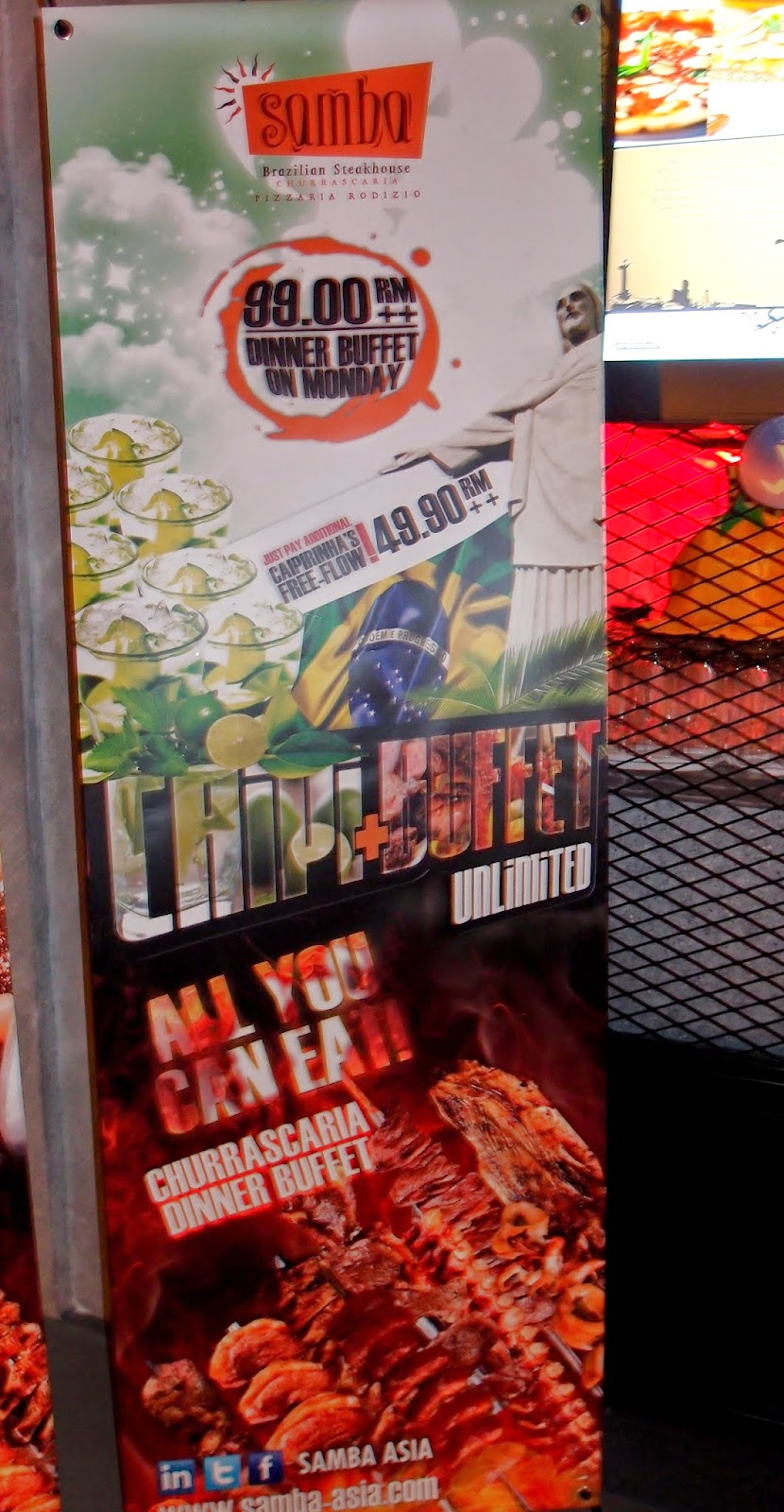 Follow me to eat la malaysian food blog samba brazilian for Samba buffet