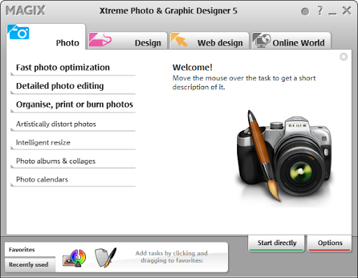 MAGIX Xara Xtreme Photo & Graphic Designer 5 Splash Screen