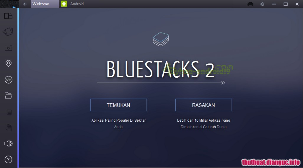 Download BlueStacks App Player Pro 2.0.2.5623 phần mềm Giả lập android