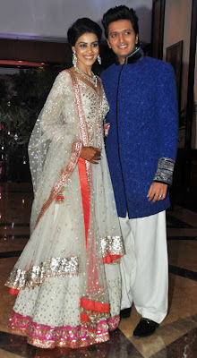 riteish deshmukh and genelia dsouza's wedding sangeet photos