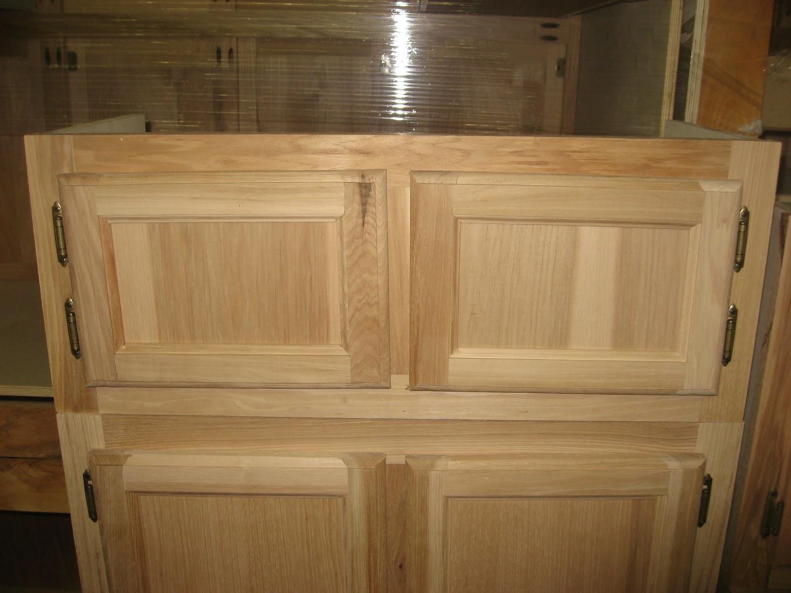 Blue Ridge Surplus Hickory Unfinished Cabinets