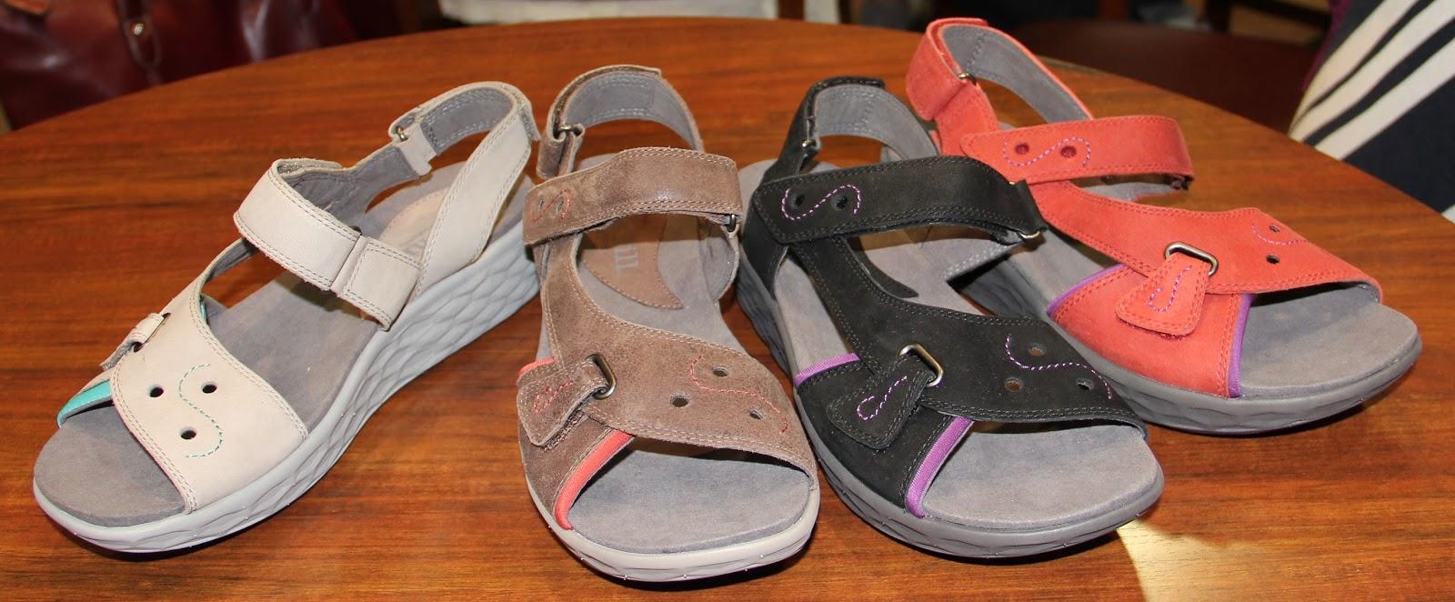 featuring Fresh Foam by New Balance tech---FreshStar sport sandal has wedge  1 ⅞