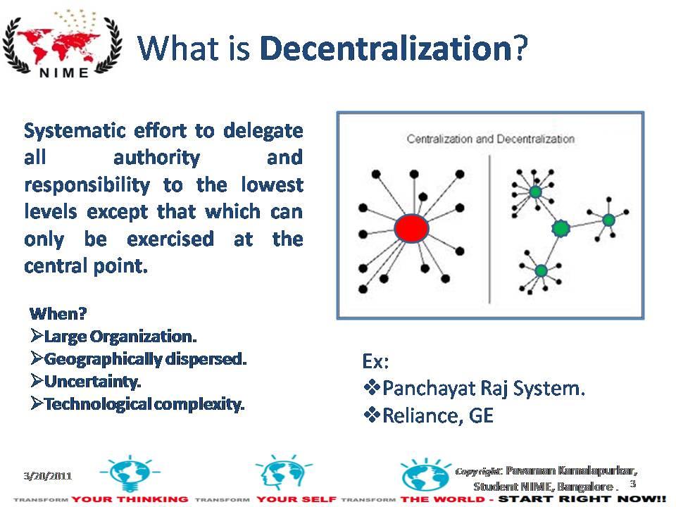 decentralization in management
