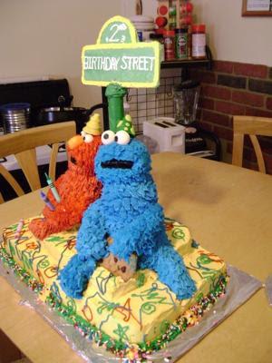 sesame street cupcakes. made a Sesame Street Cake