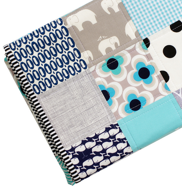 Baby Boy Quilt - The Blues | Red Pepper Quilts 2014