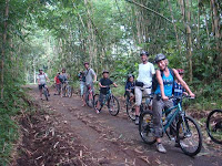 Cycling Downhill Kintamani