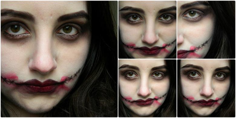 easy halloween Makeup: The Joker