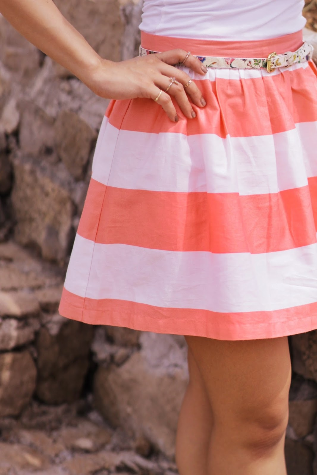 Stripes, summer trends, forever 21 striped skirt