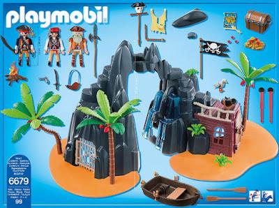TOYS : JUGUETES - PLAYMOBIL Pirates : Piratas  6679 Isla del Tesoro | Pirates Treasure Island  Producto Oficial 2015 | Piezas: 99 | Edad: 4-10  Comprar en Amazon España & buy Amazon USA