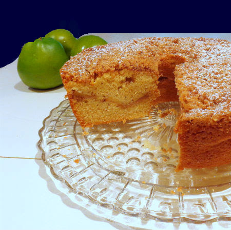 One Perfect Bite: Apple Sour Cream Coffee Cake with Streusel Topping