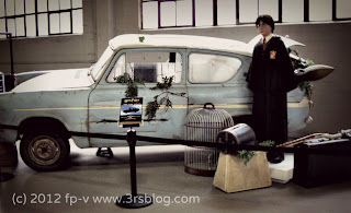 Warner Bros. Studios car museum: Ford Anglia from HARRY POTTER
