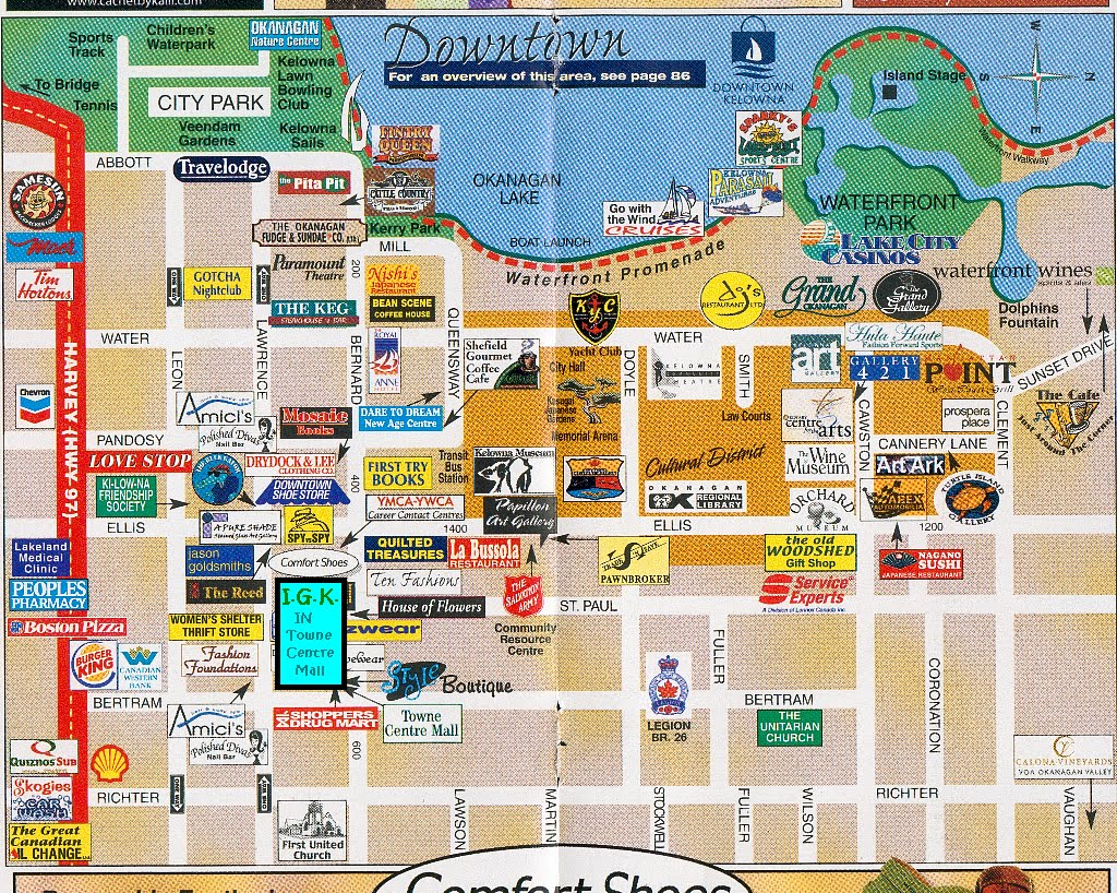 MappfKelowna26LocationofIGKtif – Map Of La Tourist Attractions