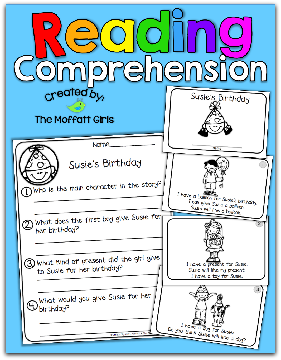 Reading Comprehension Packet | The Moffatt Girls | Bloglovin\'