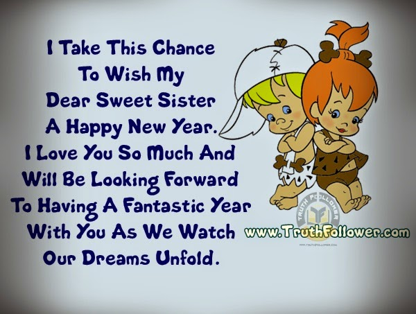 new year greetings for sister