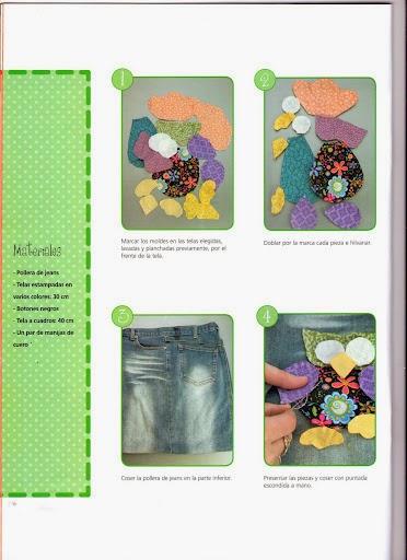Bolsa feita com calça jeans e patchwork