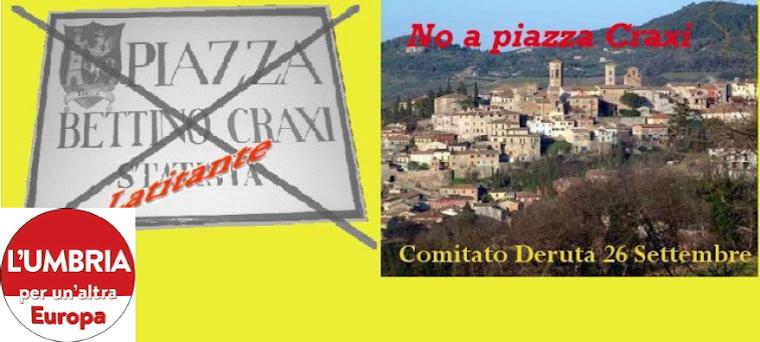 No a piazza Craxi