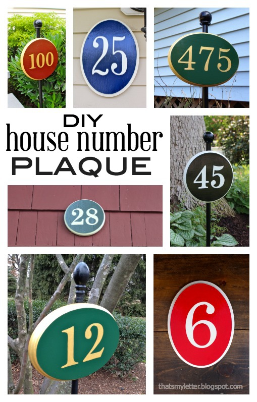 diy house number plaque