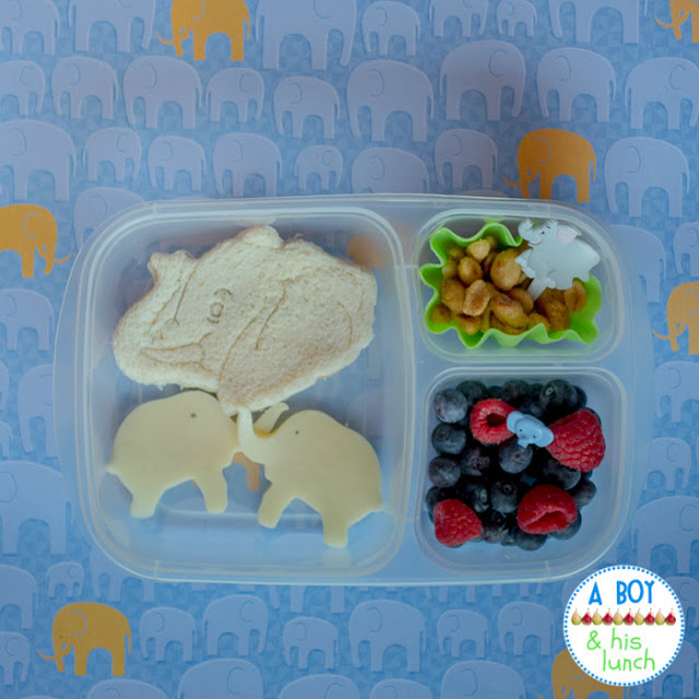 Elephant bento lunch in EasyLunchBoxes