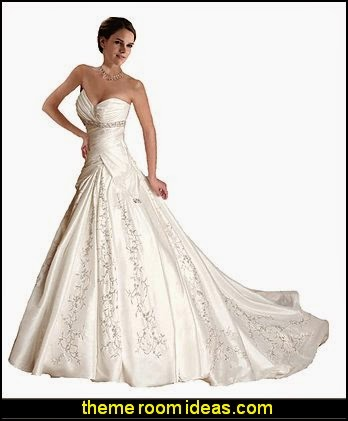 White Ivory Sweetheart Wedding Dress Bride Gown