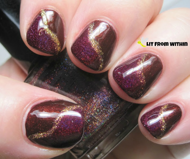 a gold striper just changes the whole look of the mani