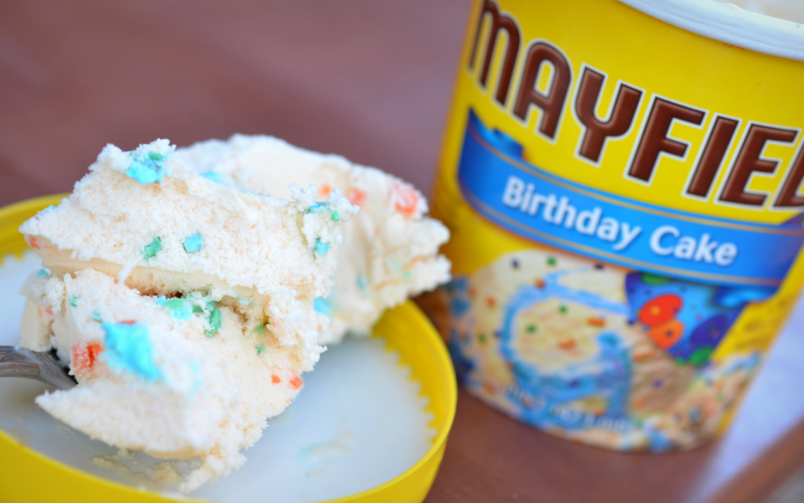 Food And Ice Cream Recipes REVIEW Mayfield Birthday Cake